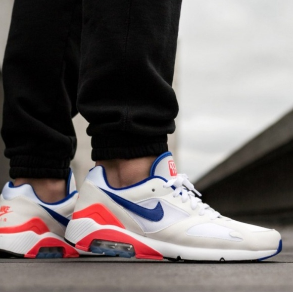 Nike Air Max 180 Shoe white ultramarine solar red